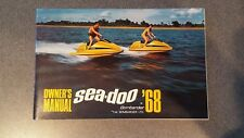 New listing Extremely RARE !! First One !! 1968 Sea-Doo Bombardier MotoMarine Owner`s Manual