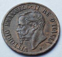 1862 N  Italy 1 Centesimi  Vittorio Emanuele II  high grade coin