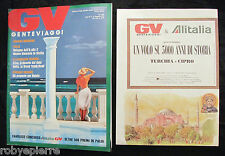 Rivista GV n 11 gente viaggi novembre 1991 Mauritius Bologna Sicilia Cina India
