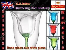 Rose Vidrio Tumble doubleglass Vino Copas Licor Copa Flor De Vidrio San Valentín