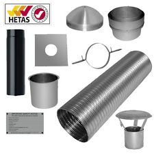 "7m 6"" Flexible Multifuel Flue Liner Pack/kit For Stove Woodburner Logburner"