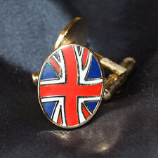 UNION JACK NOVELTY CUFFLINKS WITH FREE GIFT POUCH - GREAT FATHERS DAY GIFT IDEA!