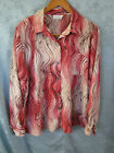 VTG 80's Kathy Che Career Blouse Size XL Abstract Print