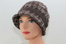 CHEMO HAT Brown Cloche For Smaller Heads COTTON LINED Wool CANCER TURBAN