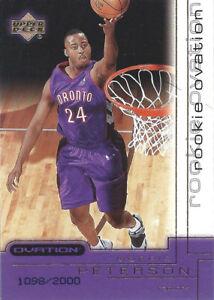 2000-01 Upper Deck Ovation #81 Morris Peterson RC 1098/2000 Raptors