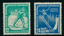 GERMANY - DDR, SC 94-95, 1952 Winter Sports issue, MNH