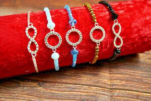 Glasperlen Stretcharmband Gummiarmband für Damen Modeschmuck