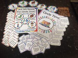 Circle time set action cards discussion cards rules ideas booklet display poster