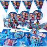 89tlg Eiskönigin Mädchen Kindergeburtstag Party Deko Tischdeko Tüten Teller Hüte
