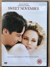 Keanu Reeves Charlize Theron SWEET NOVEMBER ~ 2001 Romantic Drama Rare UK DVD