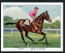 1939 Wills Cigarette Card - Racehorses & Jockeys 1938 No34 'Pasch' / G.Richards