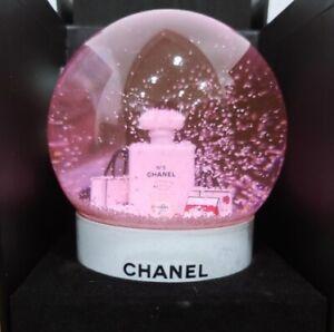 CHANEL 2016 Pink Snow Globe RARE Christmas gift Limited VIP + DHL
