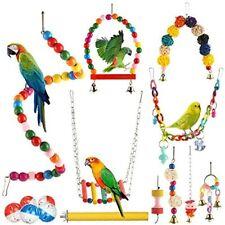 New listing Genenic 15 Packs Bird Parrot Toys, Swing Hammock Chewing Hanging Bell Pet Birds