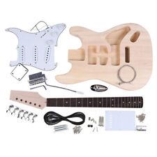 Electric Guitar DIY Kit Set Basswood Body Rosewood Fingerboard 21 Frets E7J0