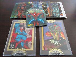 1993-96 Wizard Magazine 24 Trading Card Lot w/Super Man & Spider Man Chromium !!