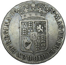 More details for 1689 william and mary inverted n in regina half crown very rare r2 bull 840