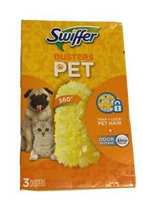 Swiffer 360 Dusters Trap + Lock Pet Hair Refills Febreze Odor Defense 3 Count