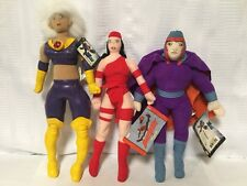 Marvel Comics X-Men Plush Lot Stuffed Animal Elektra Magneto New With Tags