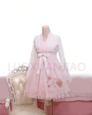 Cosplay Sweet Lolita Chinese Ancient Han Costume Pink Dress with bunny print