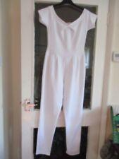Ladies White S/S Cameo Rose Cat Suit UK12
