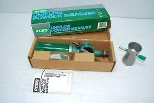 Vintage RCBS 09010 Powder Measure Uniflow in Orig Box & Directions w/ Downtubes