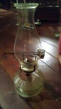 """Vintage Ribbed Pedestal Oil Lamp Thick Waist 13"""" tall"""
