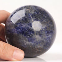 556g 72mm Large Natural Blue Sodalite Crystal Sphere Healing Ball Chakra