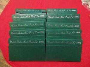 Picker's Delight Box 10/TEN/X 1998-S Mint Proof Sets Ultra Cameos  OGP #MF-T1181