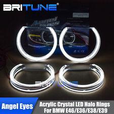 DTM Style Acrylic LED Angel Eye Kit Halos For BMW E36 E38 E39 E46 Headlight DRL