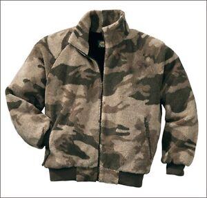 Cabela's Men's Outfitter Camo Berber Fleece Windshear Waterproof Hunting Jacket