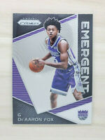 2017-18 Prizm Basketball De'Aaron Fox, RC, Emergent Rookie Card, Kings