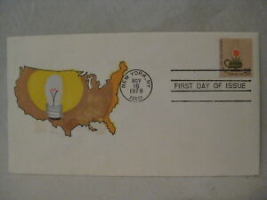 America's Light Will Shine Over Land USPS hand rendered First Day FDC envelope