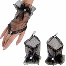 3e5422d346d8a Accessoires mariage gants noirs en tulle noeud et strass - entre-doigt  strass