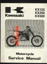 Kawasaki KX500 KX250 KX125 (1988) Factory Manual Repair Book KX 500 250 125 BY32