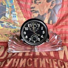 Original Russian 5-day MIG 15 AirForce Cockpit ACH Chronograph Clock with Stand