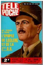 ▬►Télé Poche 497 (1975) GÉNÉRAL LECLERC_GROUPE IL ÉTAIT UNE FOIS JOËLLE