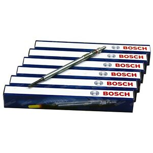 6 Bosch Diesel Glow Plugs suits Jeep Grand Cherokee WH 3.0L CRD 6cyl Laredo