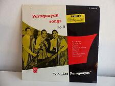 """25 CMS 10"""" TRIO LOS PARAGUAYOS Paraguayan songs N°2 P10405R"""