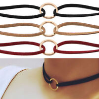 New Leather Choker Charm Necklace Vintage Hippy Chocker Leather Goth Necklace