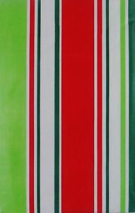 Happy Holiday Christmas Stripes Vinyl Flannel Back Tablecloth Various Sizes