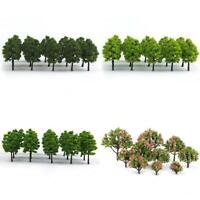 Pack of 70pcs Model Trees Layout Train Railway Diorama Landscape Scenery