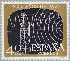 [CF1012] España 1964, XXV años de Paz: Radio - TV, 40 c. (MNH)
