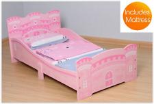 Girls Castle Bed Toddler Single Mattress Kids Bedroom Furniture Birthday Gift UK