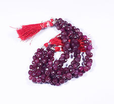 Ruby Corundum Faceted Onion Shape Beads Size 8x8mm 8 Inch Strand