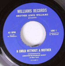 Hear! Black Gospel Soul Purple Vinyl 45 Brothers Lewis Williams - A Child Withou