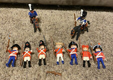 9 Playmobil Redcoat British & French Soldiers Hat Accessories White Ponytail