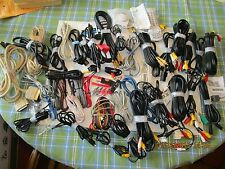 large wholesale lot of audio wiring connectors plugs power cords jacks cables
