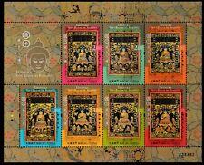 Thangka 7 Buddhas of the past minisheet of 7 stamps mnh 2017 Macau