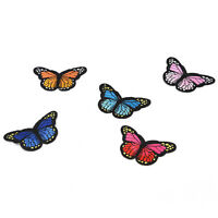 5X butterfly patch patches sew iron on embroidered badge fabric clothing diy MD