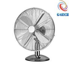 G4RCE Electric Portable Air Cooling Metal Chrome 12''inch Desktop Desk Table Fan
